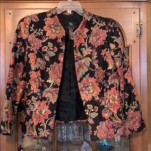 Vibrant Floral Embellished Blazer Size 10